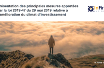 Présentation des principales mesures apportées par la loi 2019-47 du 29 mai 2019 relative à l'amélioration du climat d'investissement